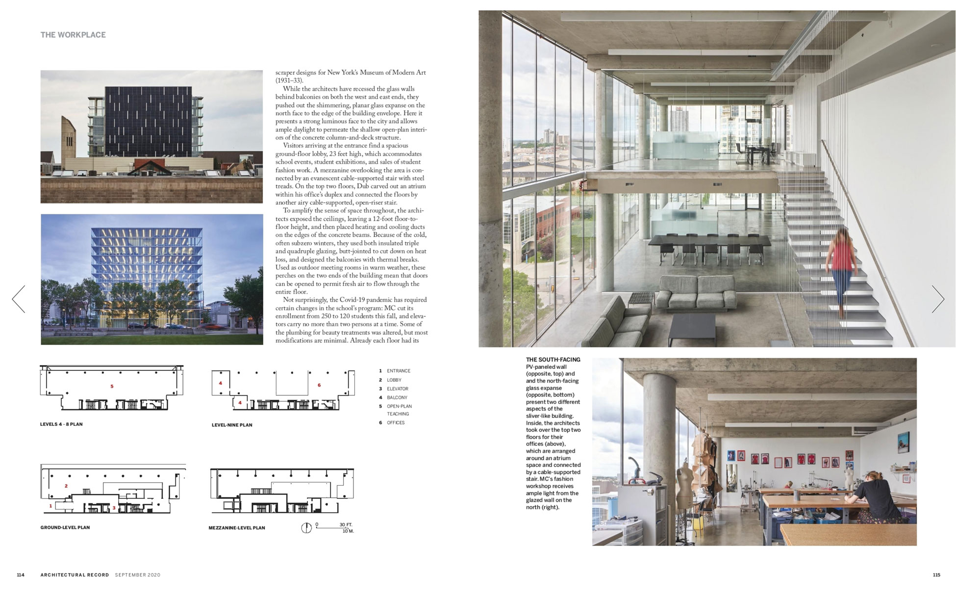 Architectural Record, September 2020- The Edge, Dub Architects