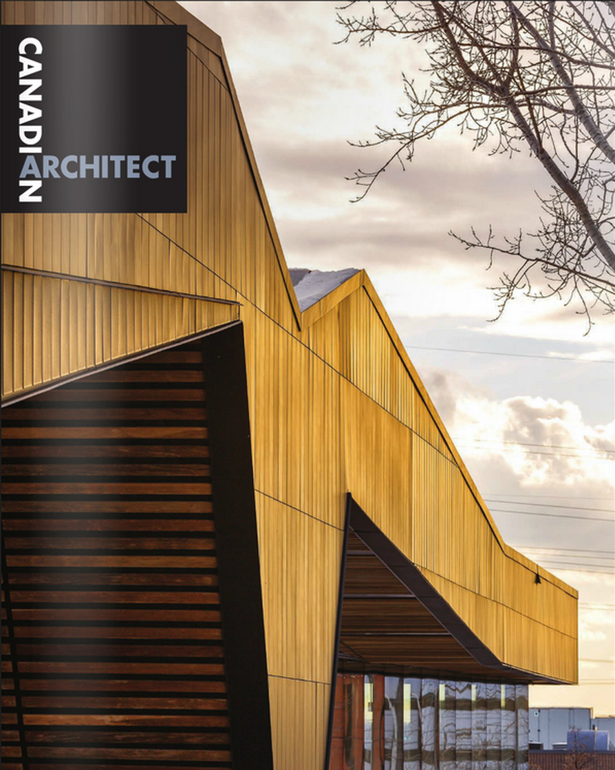 Canadian Architect - March 2015 - Cover Bibliotheque du Boise