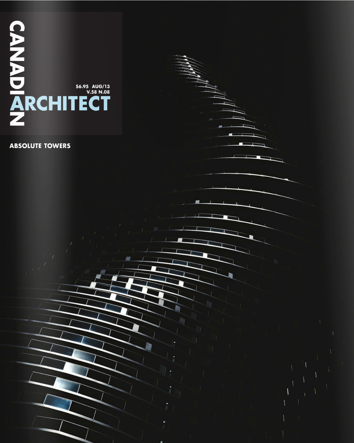 Canadian Architect August 2013 Cover