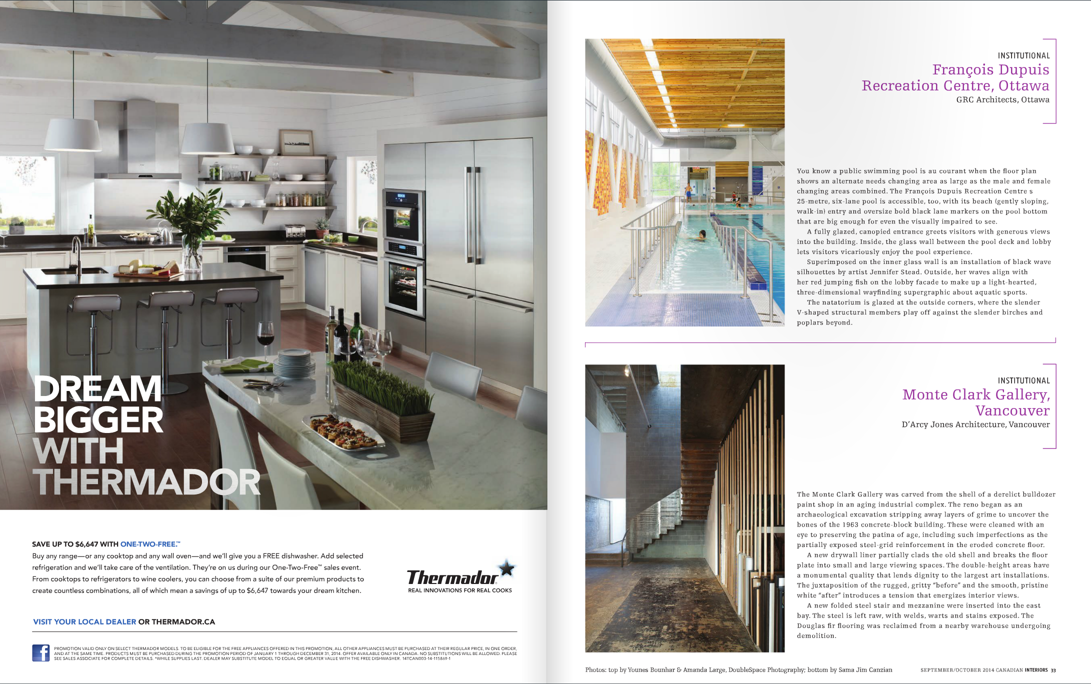Canadian Interior Best of Canada inside Oct 2014