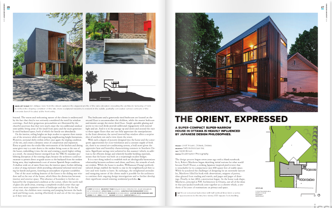 June  2014 - Canadian Architect - Orvigale